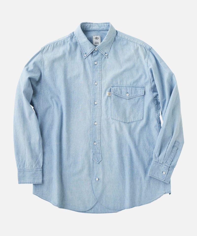 KURO クロ デニムシャツ ボタンシャツ ユーズドブルー