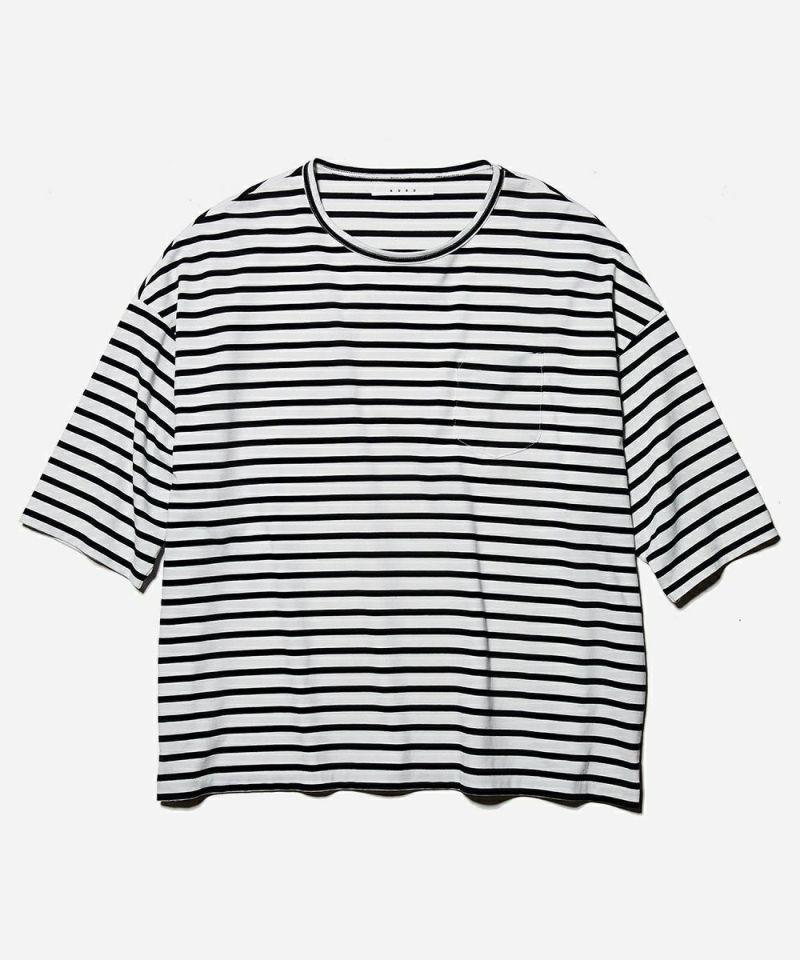 KURO クロ ボーダー Tシャツ 5分袖