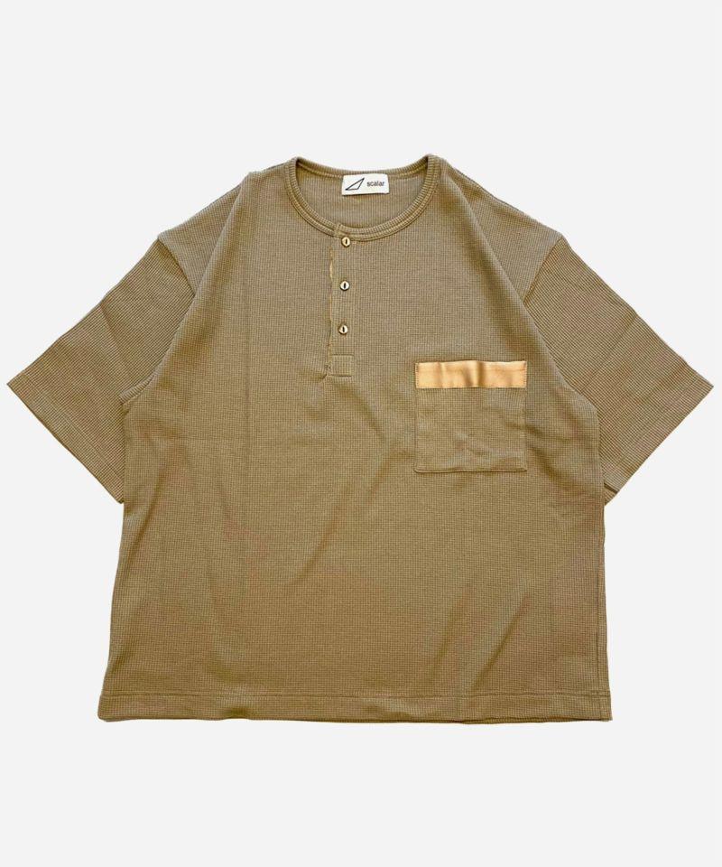 scalar スカラー ヘンリーネックTシャツ